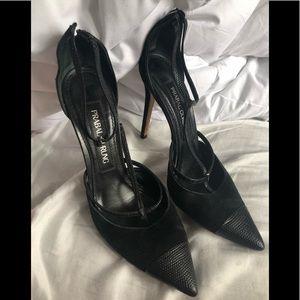 Prabal Gurung strappy sexy black heels size 40 10